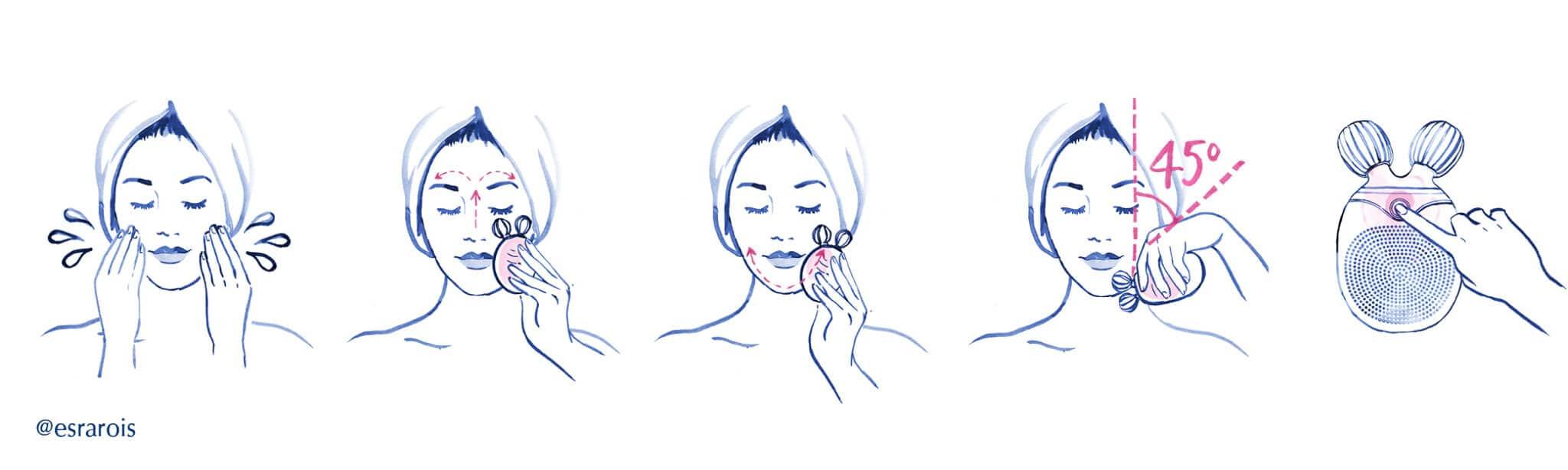 Hvordan bruker du en Sculpt & Clean ansiktsrensebørste